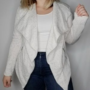 Mossimo Open Cardigan Speckled White Medium